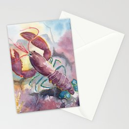 Under The Sea - Colorful Lobster Stationery Cards
