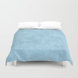 Aquamarine Oil Pastel Color Accent Duvet Cover
