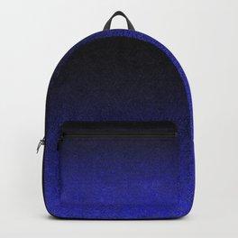Blue & Black Glitter Gradient Backpack