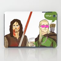 aragorn iPad Cases featuring What I miss? by tokidokiloki