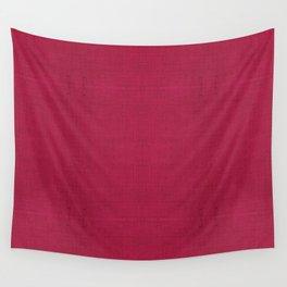 """Rose fuchsia Burlap Texture (Pattern)"" Wall Tapestry"