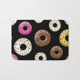 Funfetti Donuts - Black Bath Mat
