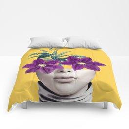 Floral Portrait 2 Comforters