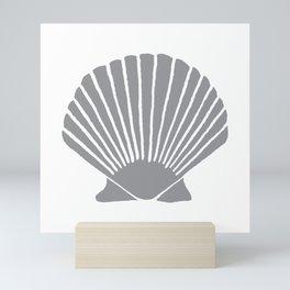 Grey Seashell Mini Art Print