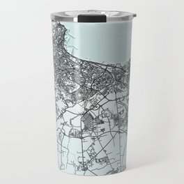 Algiers, Algeria, White, City, Map Travel Mug