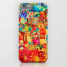 PAINTING THE SOUL - Vibrant Collage Mixed Abstract Acrylic Watercolor Painting Rainbow Colorful Art Slim Case iPhone 6