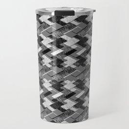 Geometric black, white pattern. Travel Mug