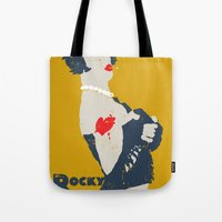 rocky horror Tote Bags featuring Rocky Horror by Alec Goss