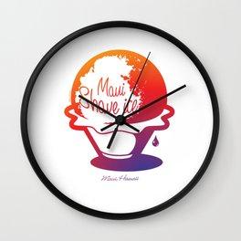 Maui Shave Ice Wall Clock