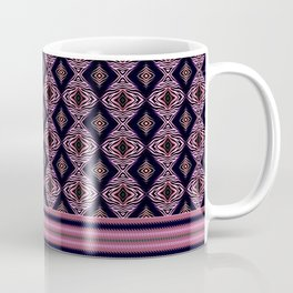Pink Modern Tribal Diamond and Stripe Tile Coffee Mug