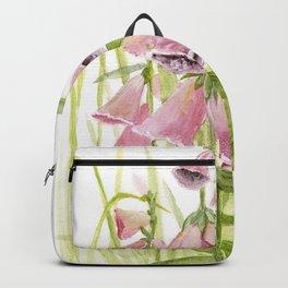 Pink Foxglove Botanical Garden Flower Backpack