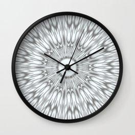 Gray Kaleidoscope Wall Clock