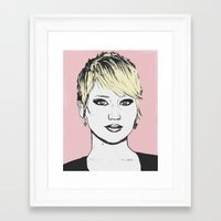 jennifer lawrence Framed Art Prints featuring Jennifer Lawrence by CBDB