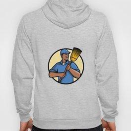 African American Street Sweeper or Cleaner Mascot Hoody