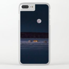 New Year's Ice Fishing Clear iPhone Case
