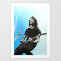 dave grohl Art Prints featuring 'Dave Grohl' by Christian Chapman Art