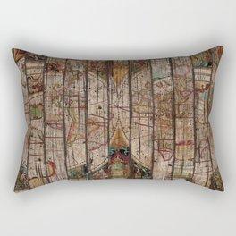 Encrypted Map Rectangular Pillow