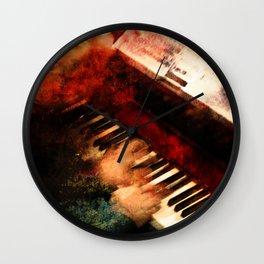 Piano Player Wall Clock
