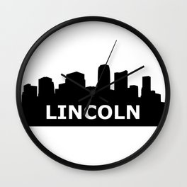 Lincoln Skyline Wall Clock