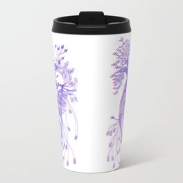 Blooming Heart  - Blue and Red Travel Mug