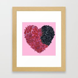 Loves Win (heart) Framed Art Print