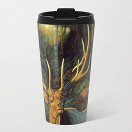 Bull Elk in Autumn Travel Mug