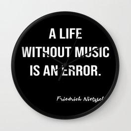 Friedrich Nietzsche On Music Wall Clock