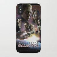 battlestar galactica iPhone & iPod Cases featuring BATTLESTAR GALACTICA POSTER by tanman1