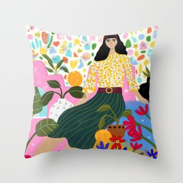 Spring comes after winter Throw Pillow