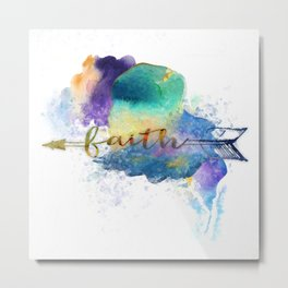 Faith Arrow Metal Print