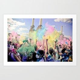 Holi Festival Of Colours Art Print
