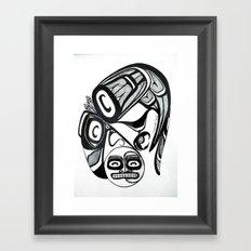 Raven Steals the Moon Framed Art Print