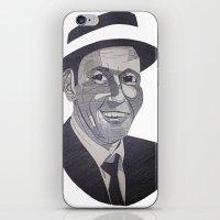 frank sinatra iPhone & iPod Skins featuring Frank Sinatra -- Ol' Blue Eyes by Bradlee254