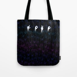 I found love this crowded place.  Tote Bag