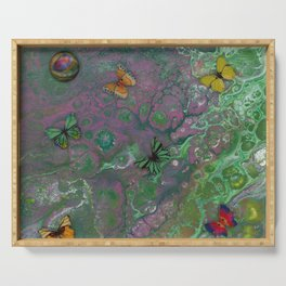 Rainbow Butterfly Pour Serving Tray