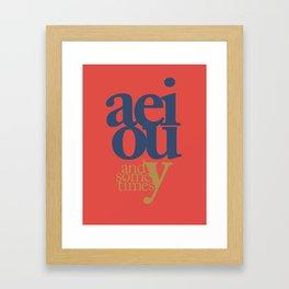 Vowels 1 Framed Art Print