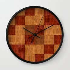Bamboo patchwork Wall Clock