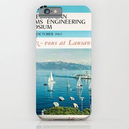 cartellone ibm first european systems iPhone Case