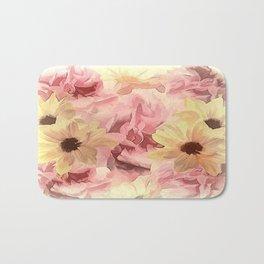 Soft Hazy Day Spring Floral Bouquet Bath Mat