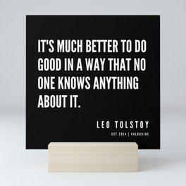 28  | Leo Tolstoy Quotes | 190608 Mini Art Print