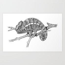 Panther Chameleon Art Print