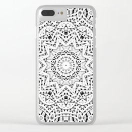Gray ornament Clear iPhone Case