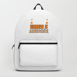 Family Love Bloodline Household Clan Relationship Birth Best Uncle In The World Gift Backpack
