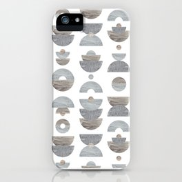 semicircle pattern iPhone Case