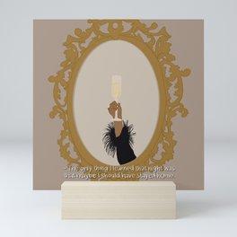 Champagne Mirror Mini Art Print
