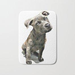 Pitbull Puppy Bath Mat