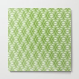 Color of the Year 2017 Designer Colors Greenery Argyle Plaid Metal Print