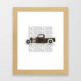 Rat Rod Hot Rod Vintage Framed Art Print