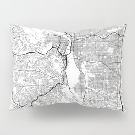 Minimal City Maps - Map Of Portland, Oregon, United States Pillow Sham