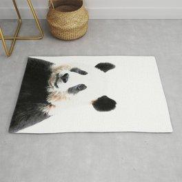Panda Watercolor Panda Bear Portrait Rug